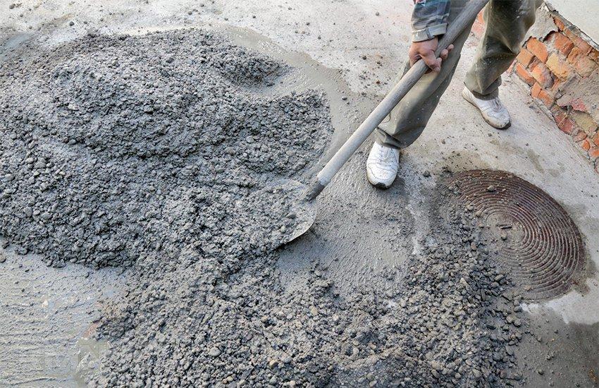 Цементно песчаный бетон бетон на разрезе